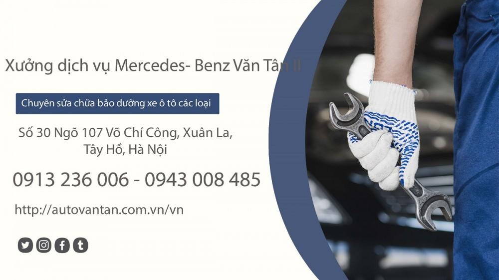 Bảo dưỡng xe định kỳ tại xưởng dịch vụ Mercedes-Benz Văn Tân